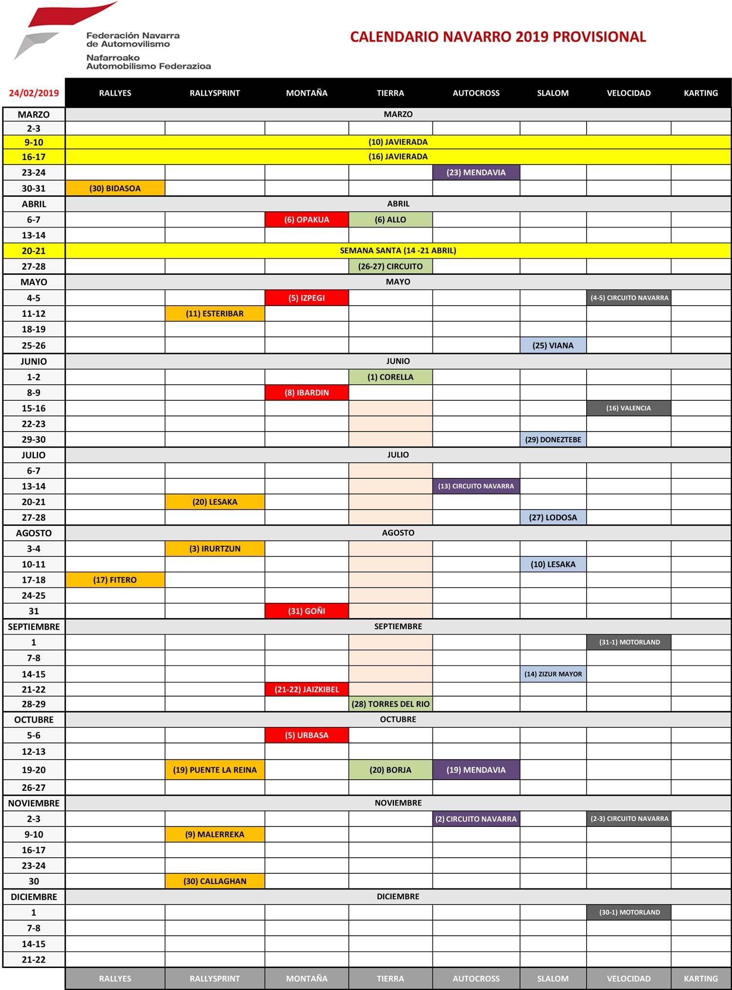 Calendario Autodromo Pedro Cofino 2019.Calendario Autocross 2019 Ikbenalles