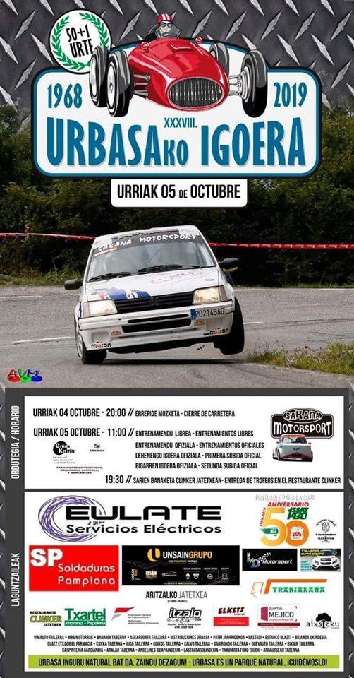 Campeonatos de Montaña Nacionales e Internacionales (FIA European Hillclimb, Berg Cup, MSA British Hillclimb, CIVM...) - Página 31 Cartel-urbasa-19